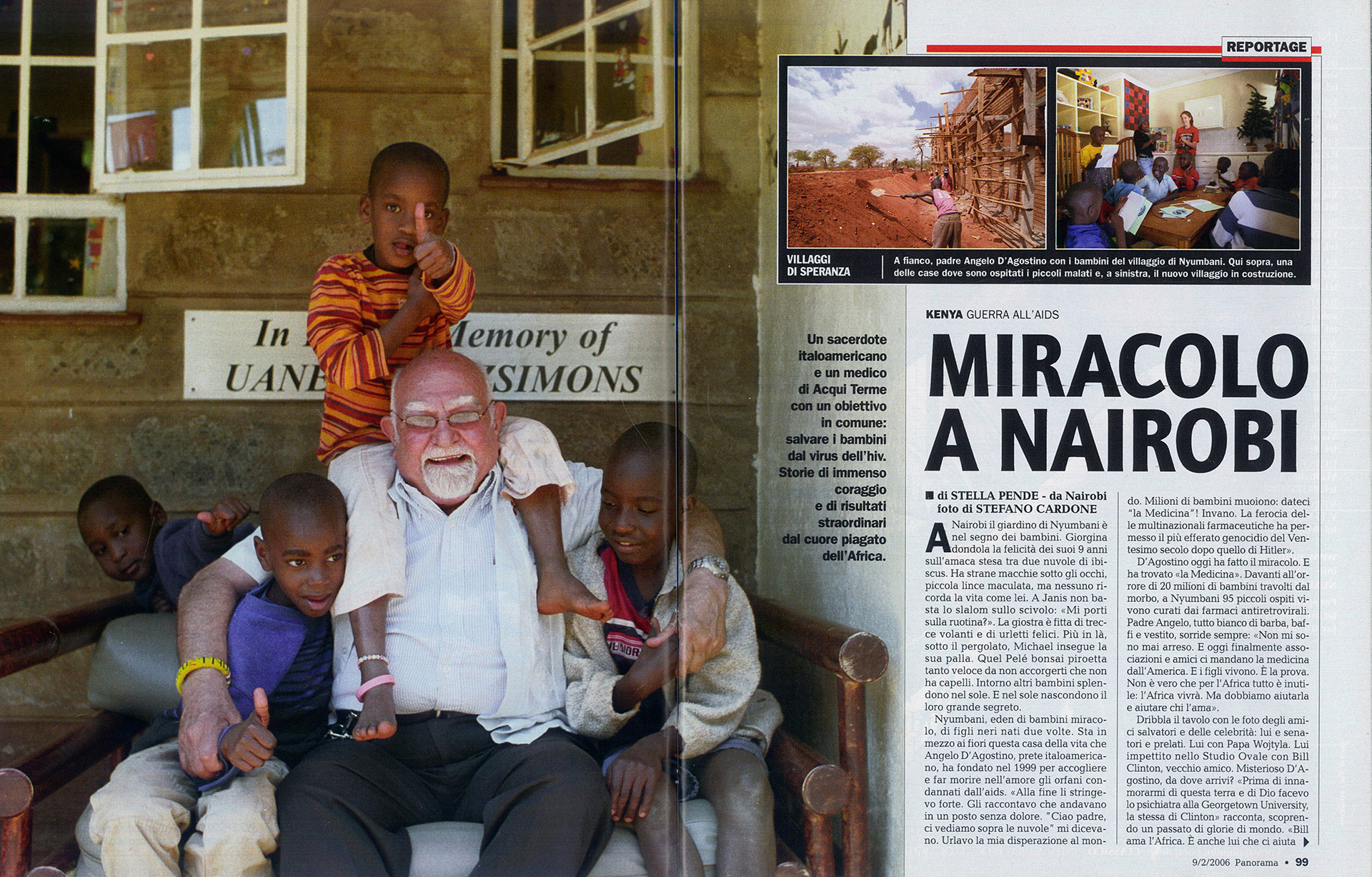 Nairobi - Padre Angelo D'agostino: Stefano Cardone Photographer Reportage